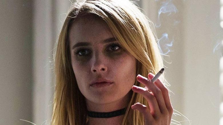 Madison Montgomery smoking