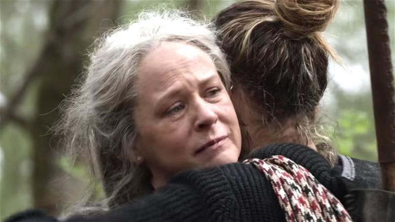 Carol giving a hug