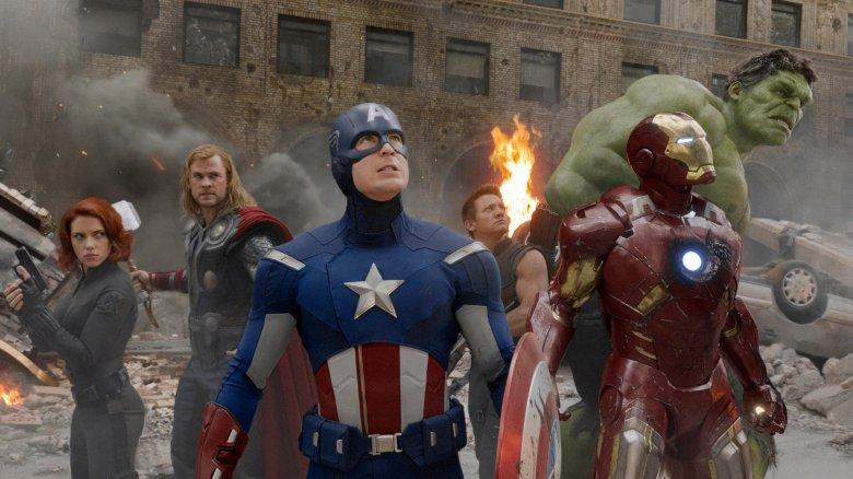 Avengers circled up
