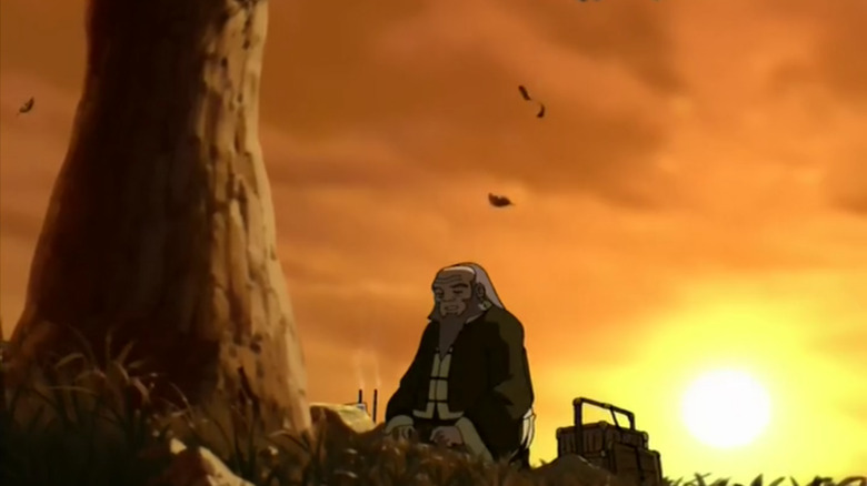 Iroh mourns his son on Avatar: The Last Airbender