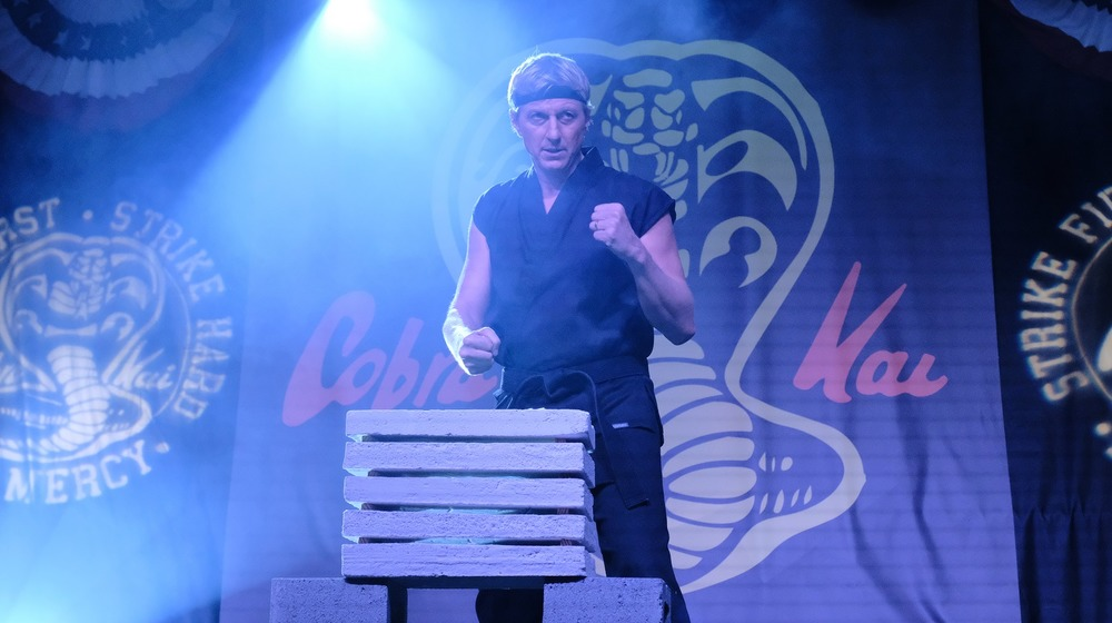 Johnny Lawrence punches concrete in Cobra Kai