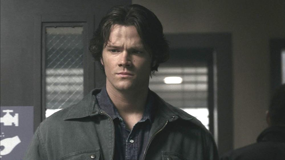 Jared Padalecki as Sam Winchester looking concerned on Supernatural