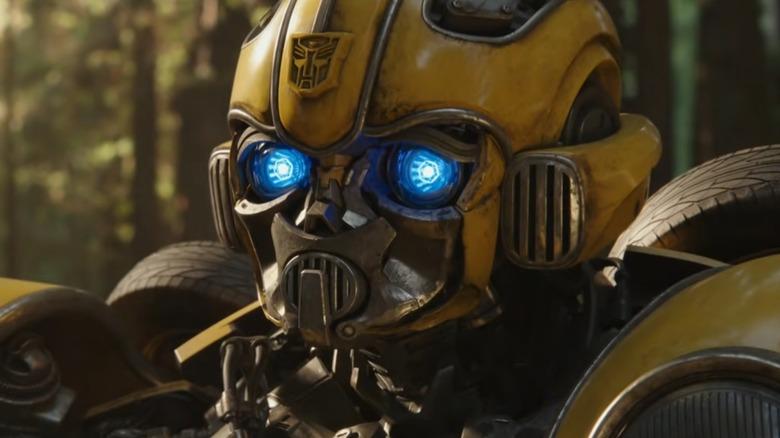 Bumblebee glowing eyes