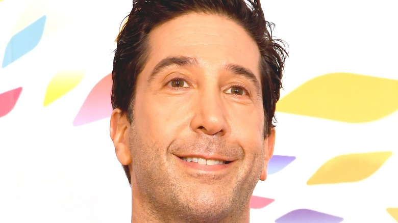 David Schwimmer looking beyond camera and smiling