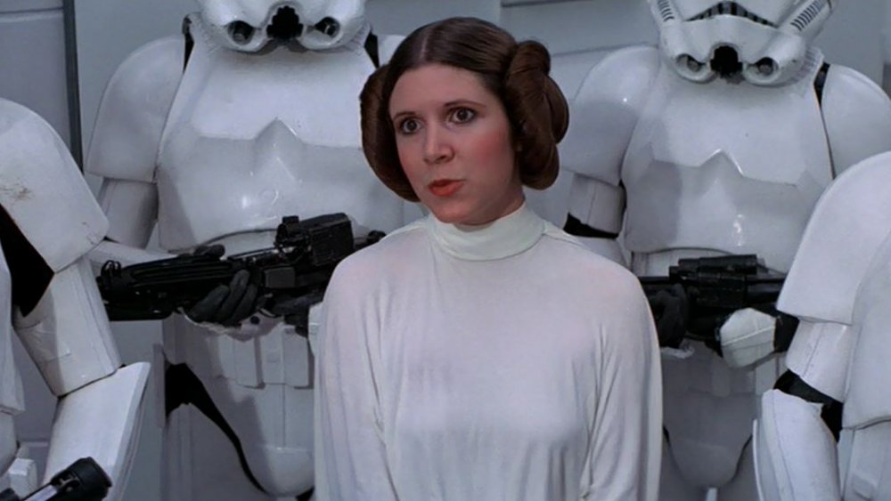 Carrie Fisher as Leia in Star Wars, 1977