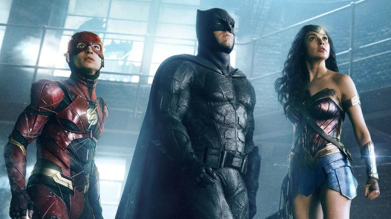 The Flash, Batman, and Wonder Woman prepare for a fight