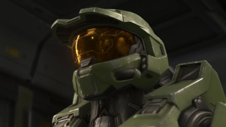 Master Chief in ship