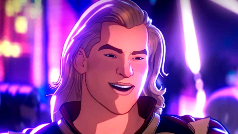 Thor smiling in What If...?