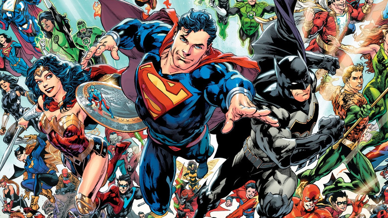 Promo art of the DC Universe heroes