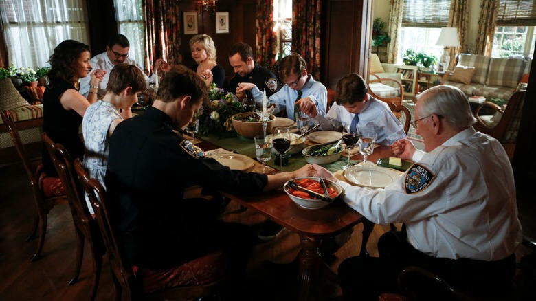 The Reagan family gathers together for dinner on Blue Bloods