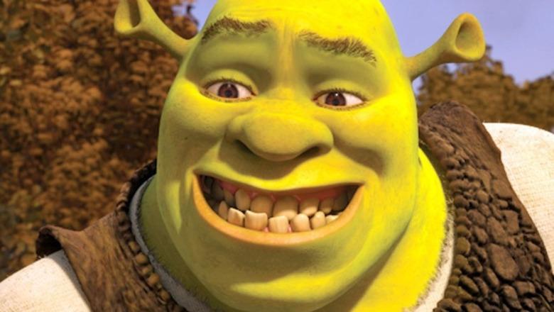 Shrek grinning enthusiatically