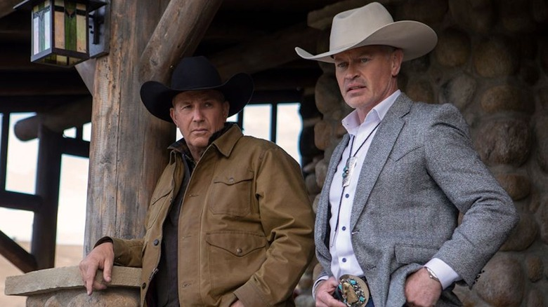 Kevin Costner and Neal McDonough in Yellowstone