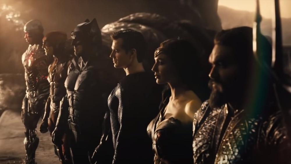 Justice League posing