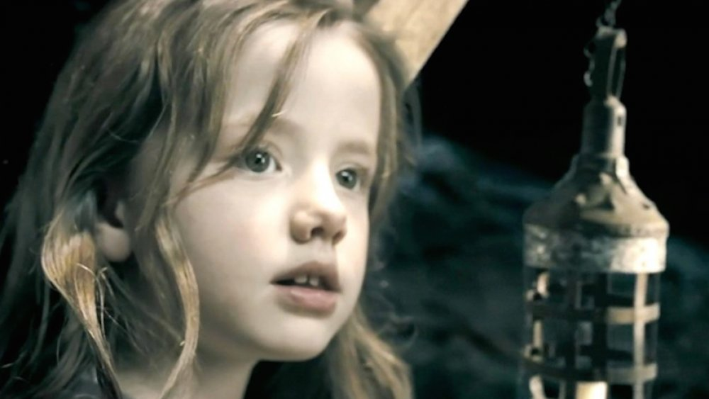 Lily Sheen as young Selene in Underworld: Evolution