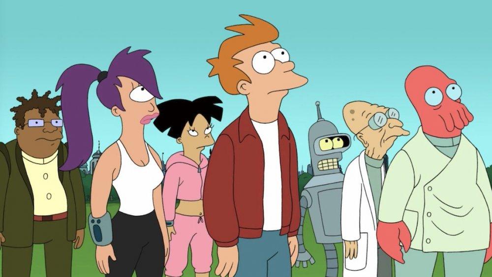 Futurama cast looking up