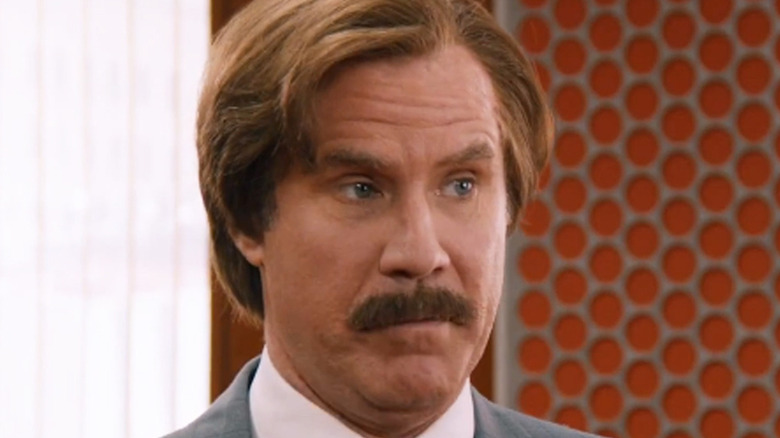 Will Ferrell Ron Burgundy mustache