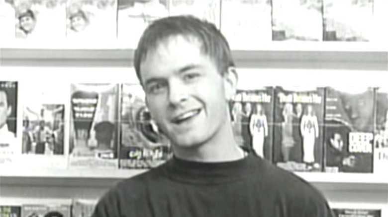 Black-and-white still from Kevin Smith's Clerks