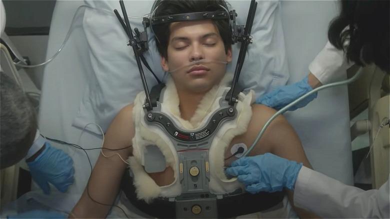 Xolo Maridueña as Miguel on Cobra Kai Season 3