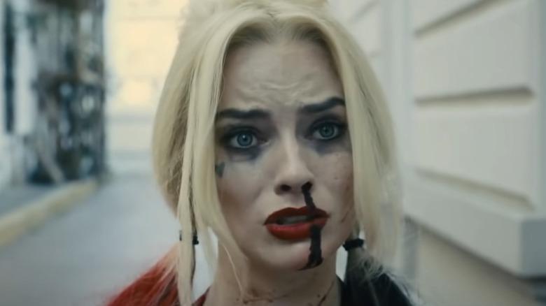 Harley Quinn looking at camera