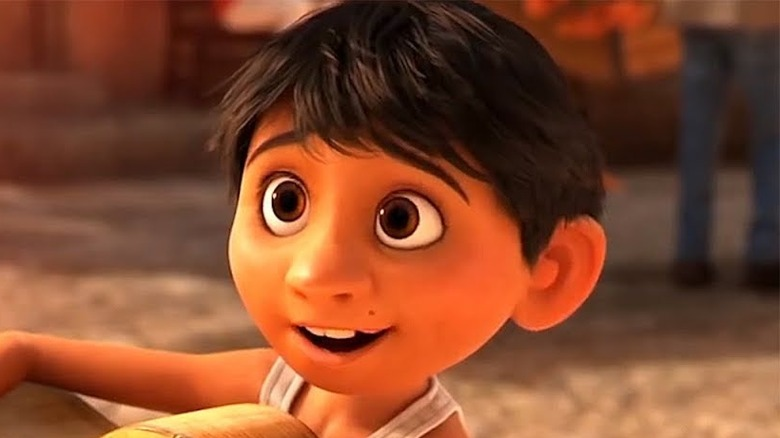 Miguel smiling in Pixar's Coco