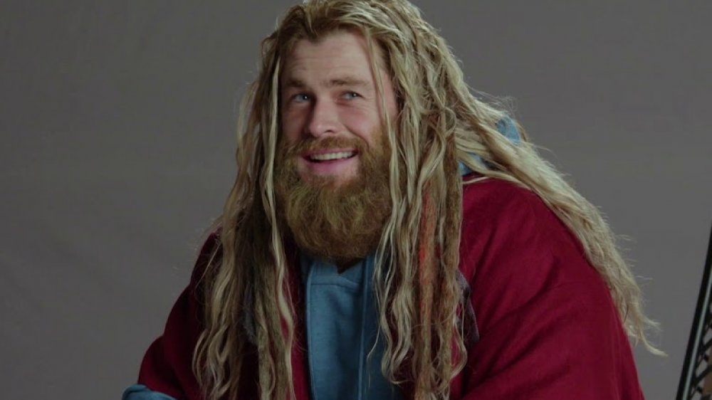 Chris Hemsworth as Fat Thor in Avengers: Endgame behind-the-scenes