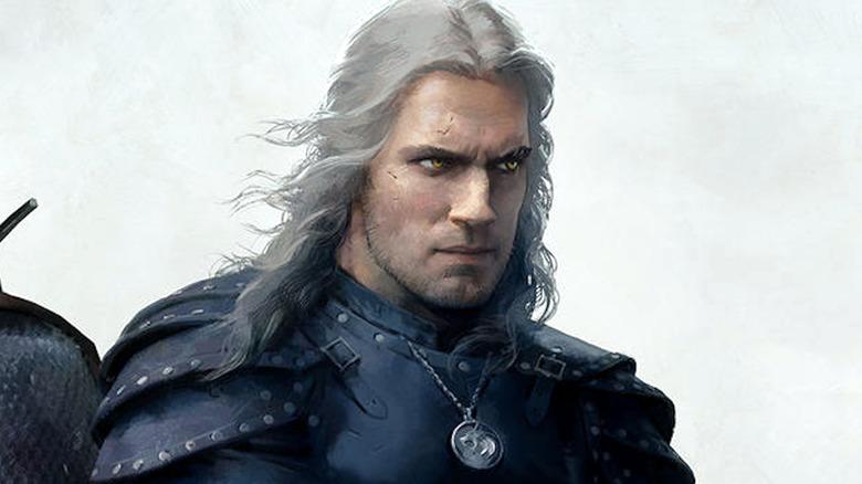 The Witcher art Geralt
