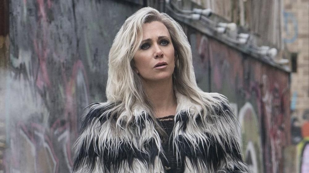 Kristen Wiig in a furry coat