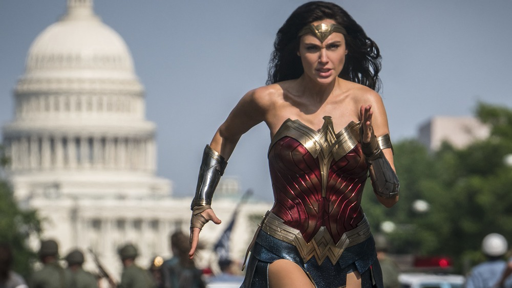 Gal Gadot runs to save the day in Wonder Woman 1984