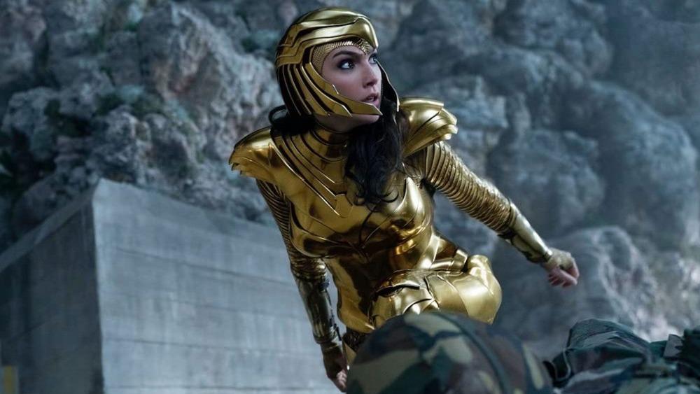 Wonder Woman (Gal Gadot) wears golden armor in Wonder Woman 1984