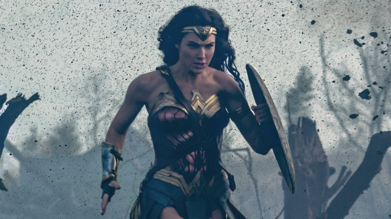Wonder Woman running in battle