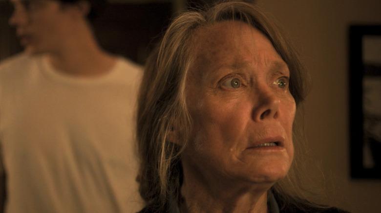 "Castle Rock -- ""The Queen"" - Episode 107 - Memories haunt Ruth Deaver. Persons shown: Sissy Spacek and Bill Skarsgard."