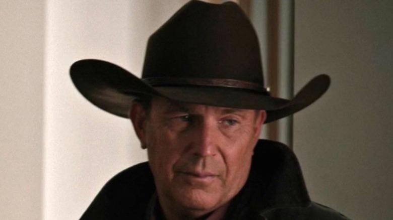 John Dutton wearing hat