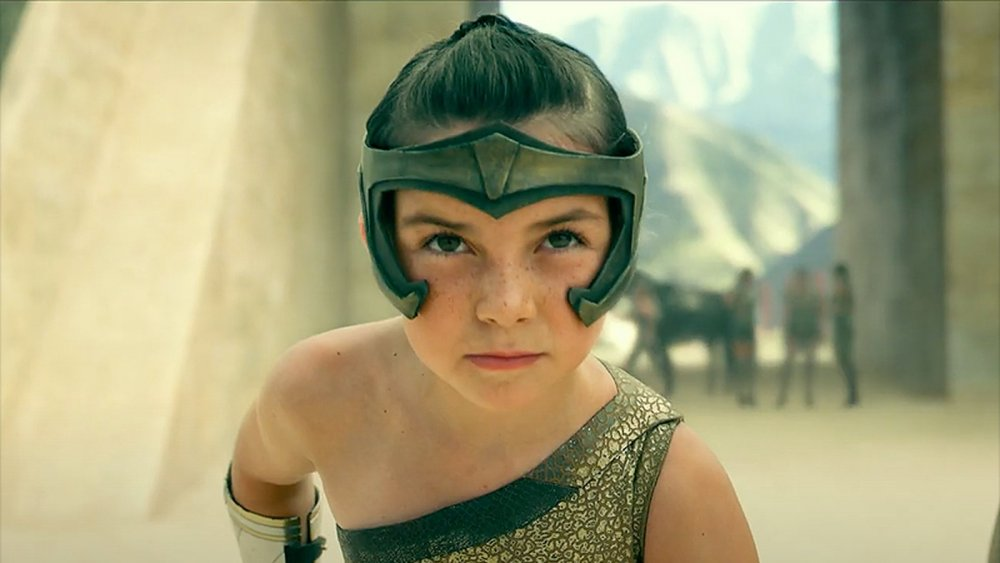Lilly Aspell as Young Diana Prince in Wonder Woman