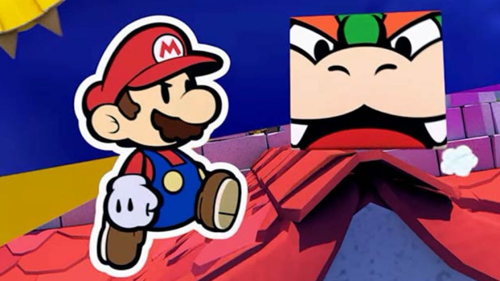 Mario and folded Bowser