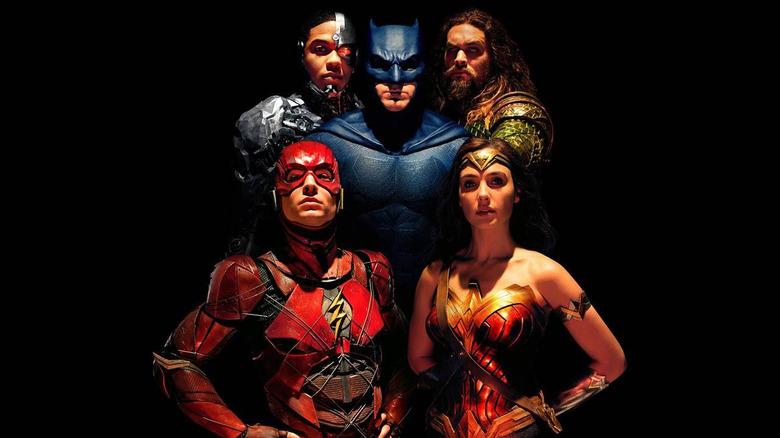Justice League cast poster promo image