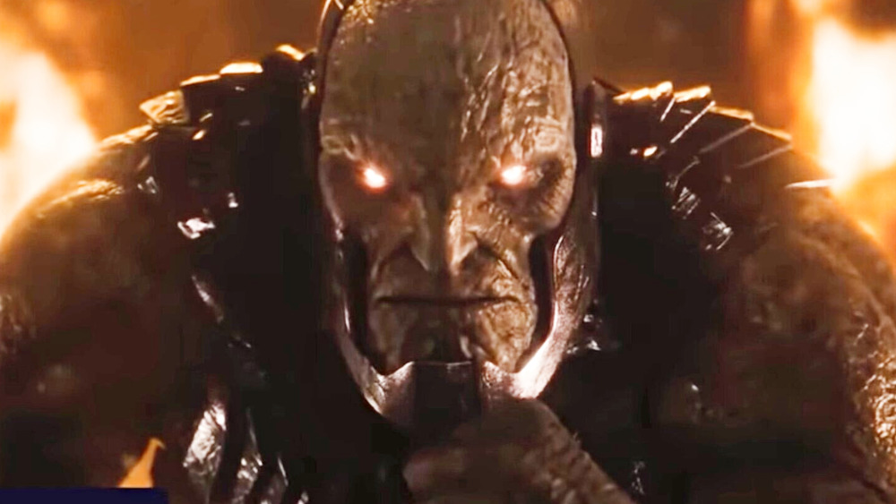 Darkseid with glowing eyes