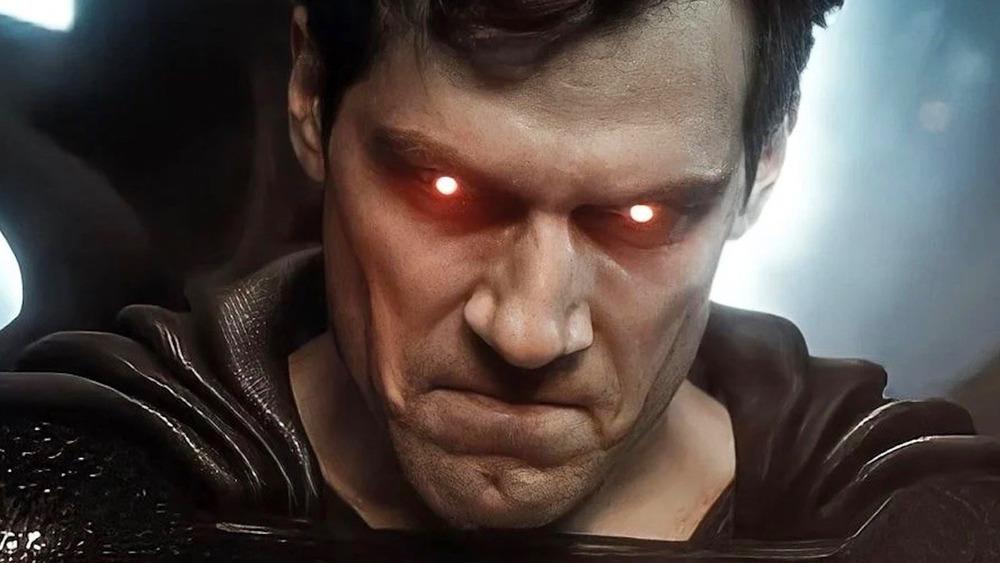 Henry Cavill Superman red eyes